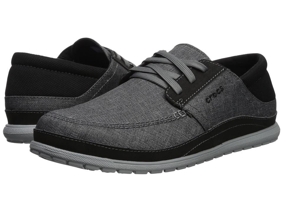 Crocs - Santa Cruz Playa Lace (Slate Grey/Light Grey) Mens  Shoes