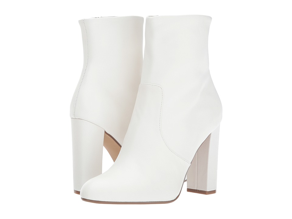 Vintage Style Boots, Retro Boots, Granny Boots, Fur Top Boots Steve Madden - Editor White Leather Womens Shoes $104.99 AT vintagedancer.com