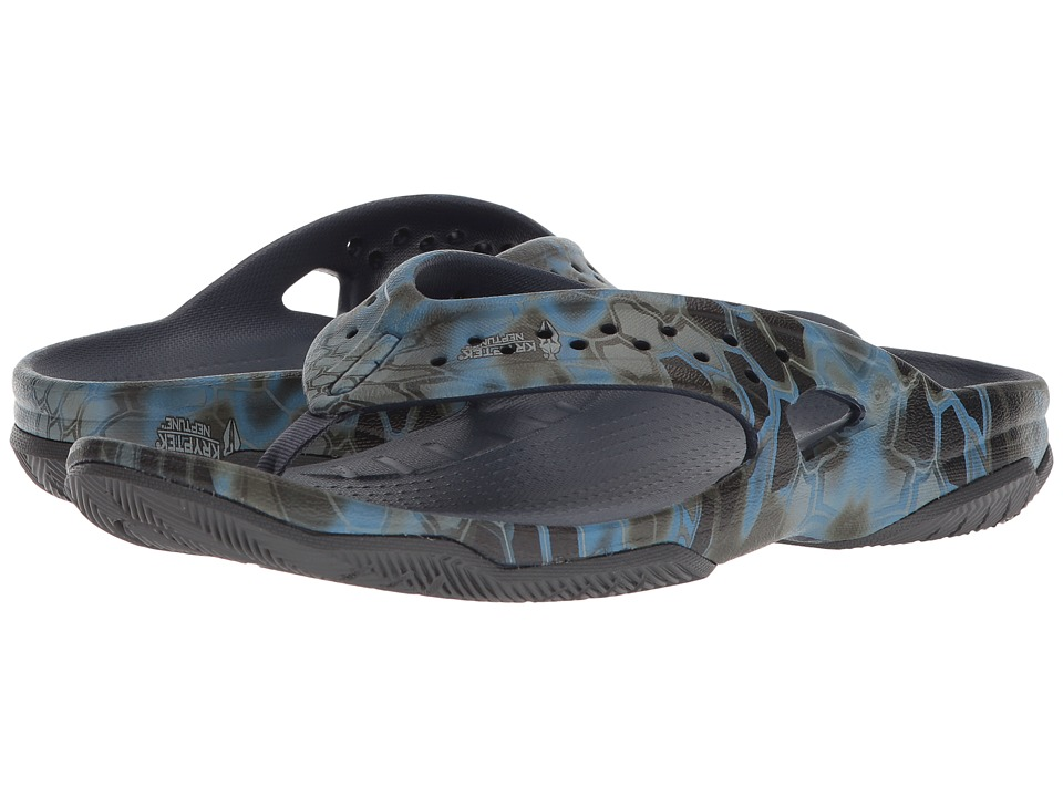 Crocs - Swiftwater Kryptek Neptune Deck Flip (Navy) Mens  Shoes