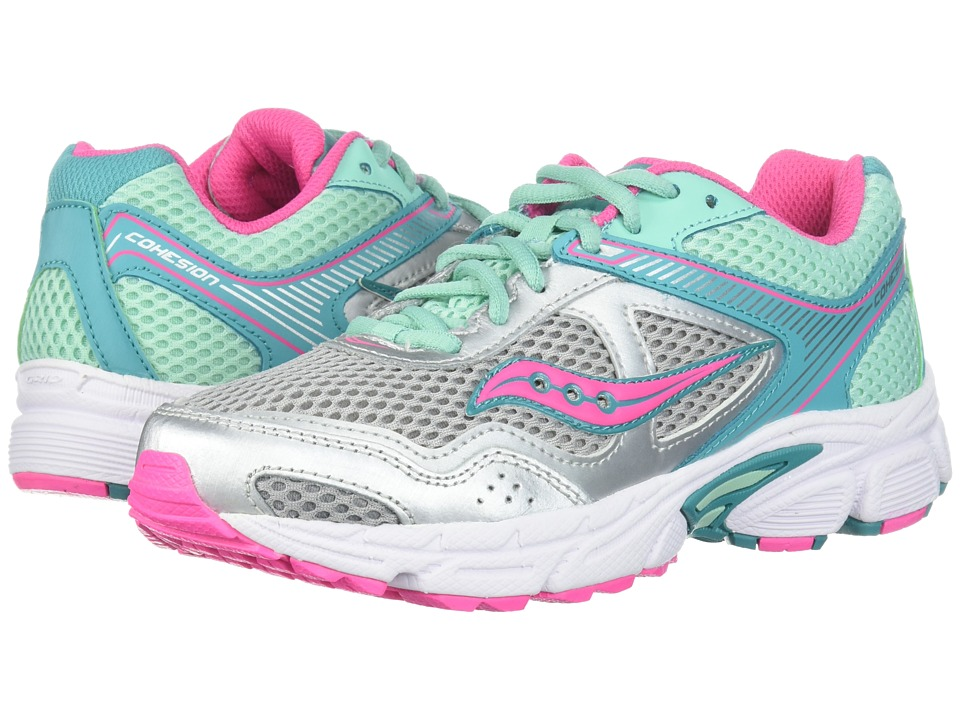 Saucony Kids - Cohesion 10 LTT (Little Kid/Big Kid) (Silv...