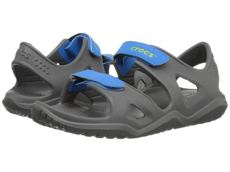 Crocs Kids - Swiftwater River Sandal (Toddler/Little Kid) (Slate Grey/Ocean) Kids Shoes