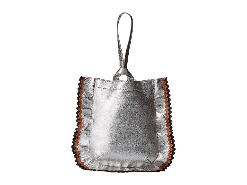 Loeffler Randall - Mini Ruffle Wristlet (Silver/Multi) Wristlet Handbags