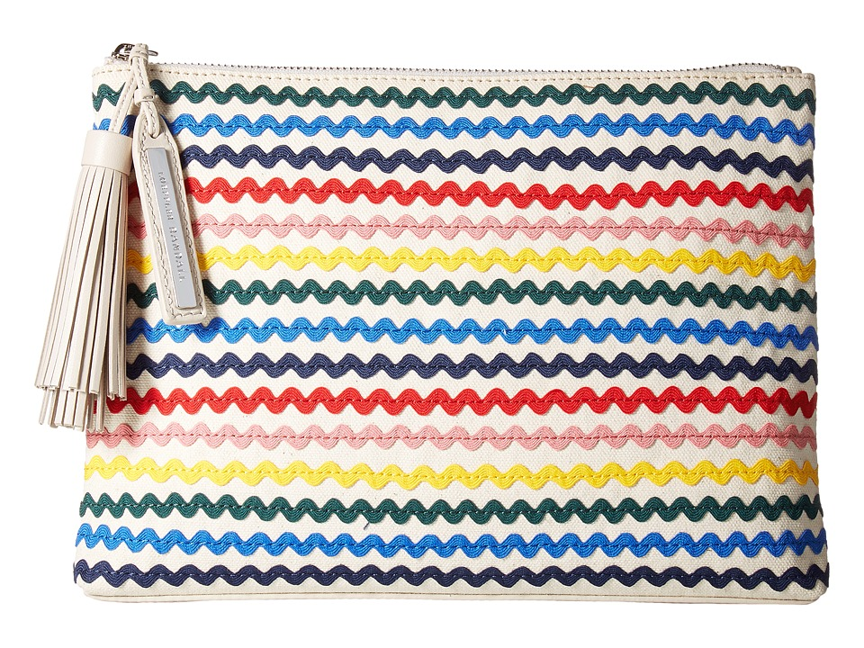 Loeffler Randall Tassel Pouch (Natural/Rainbow) Clutch Handbags
