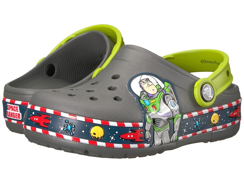 Crocs Kids - Crocband Fun Lab Buzz Lights Clog (Toddler/Little Kid) (Slate Grey) Kids Shoes