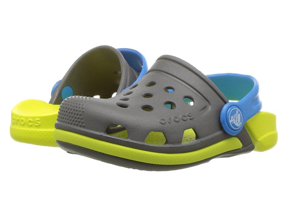 Crocs Kids - Electro III Clog (Toddler/Little Kid) (Slate Grey/Tennis Ball Green) Kids Shoes