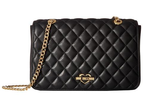 LOVE Moschino Superquilting Shoulder Bag - Black