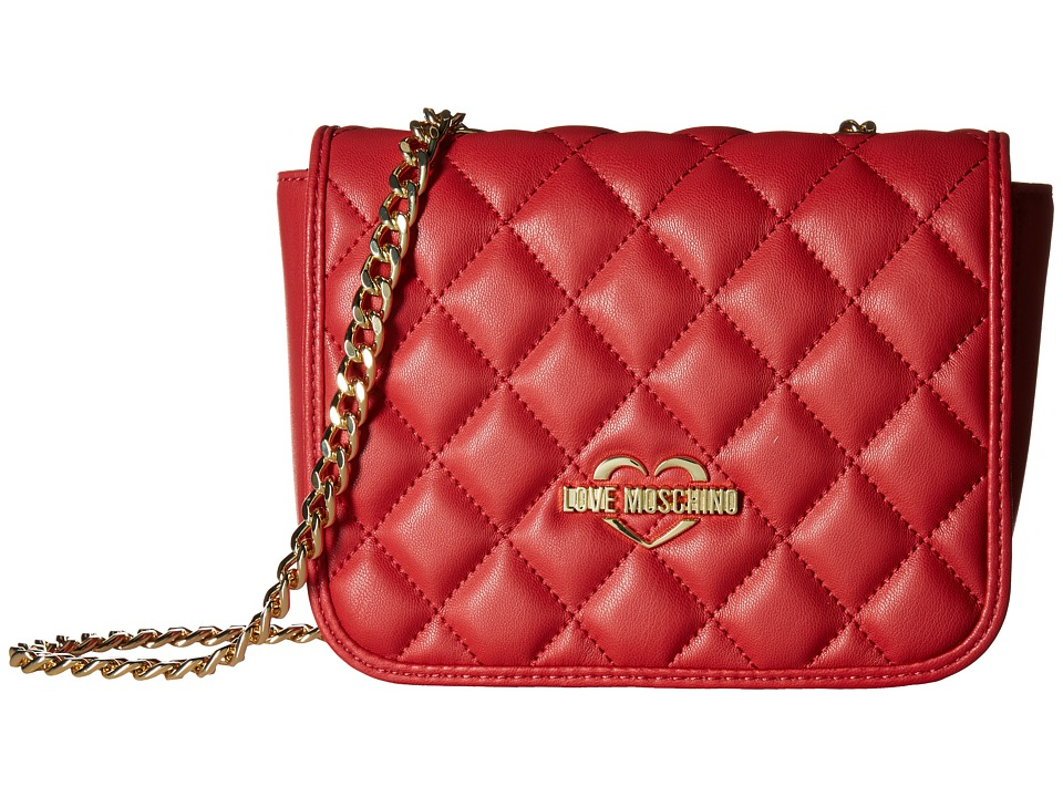 LOVE Moschino - Superquilting Square Shoulder Bag (Red) Handbags