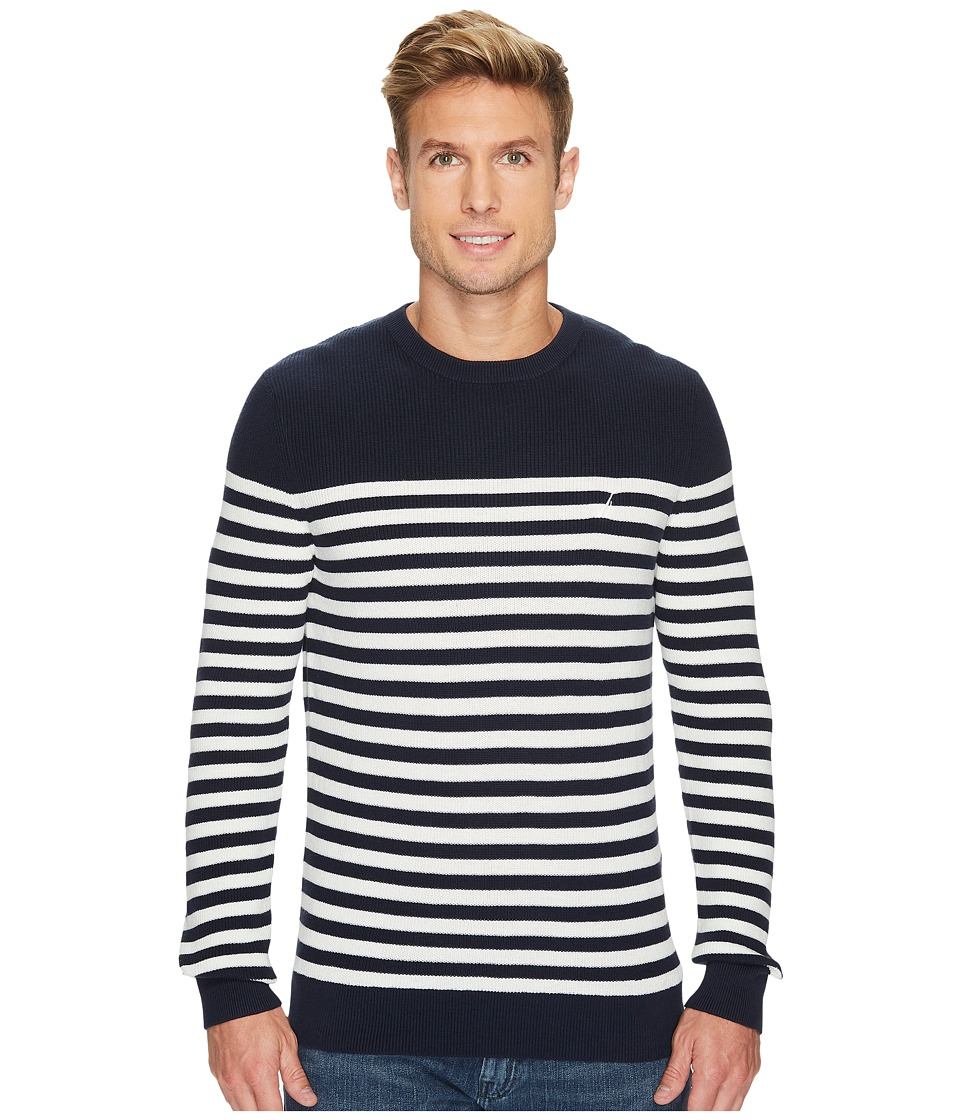 Nautica 12 Gauge Crew Bretton Sweater (Marshmallow) Men