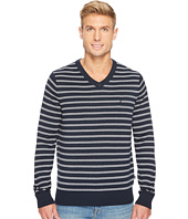 Nautica - 12 Gauge Striped V-Neck
