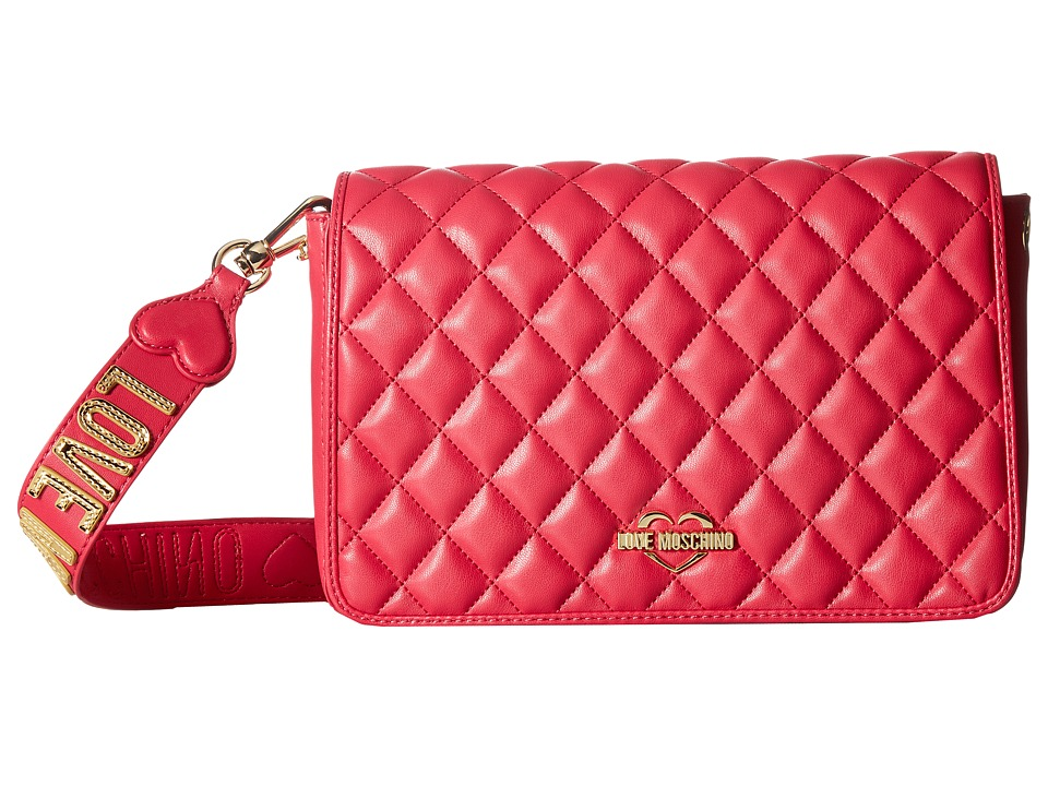 LOVE Moschino - Fashion Quilted Rectangle Bag (Fuchsia) Handbags