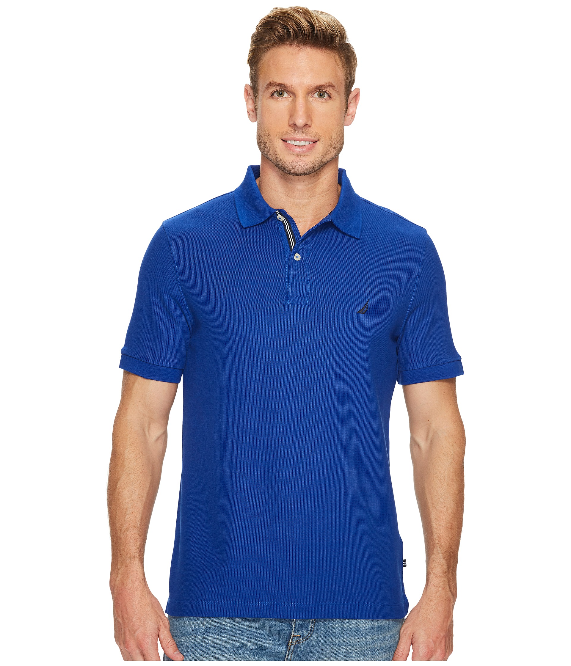 Nautica short sleeve solid deck shirt at for Nautica shirts on sale