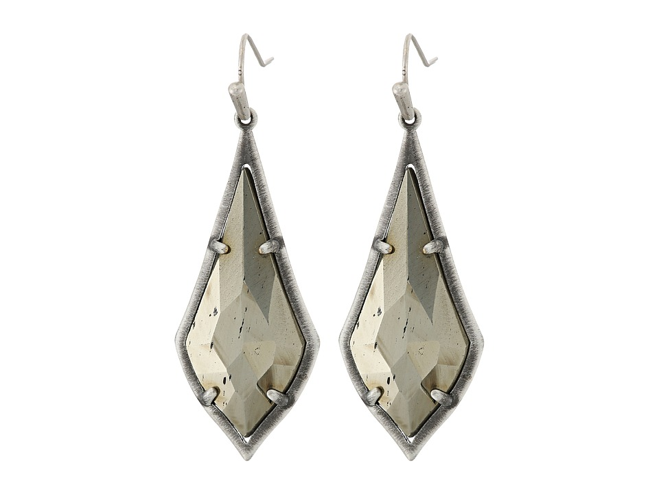 Kendra Scott - Olivia Earrings (Antique Silver/Brown Pyrite) Earring