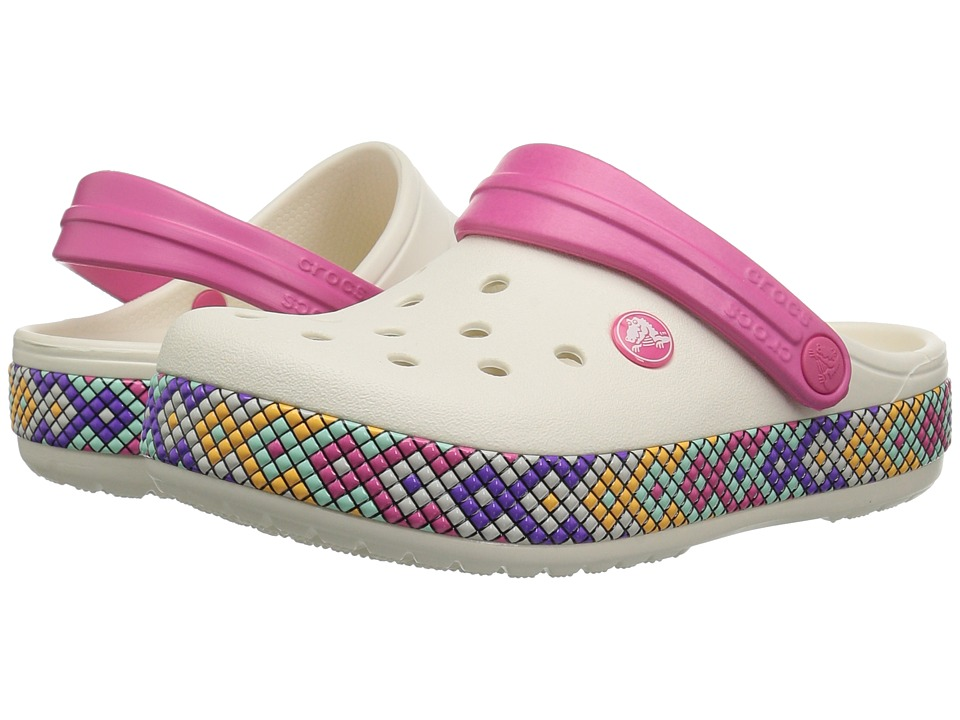 Crocs Kids - Crocband Gallery Clog (Toddler/Little Kid) (Oyster) Kids Shoes