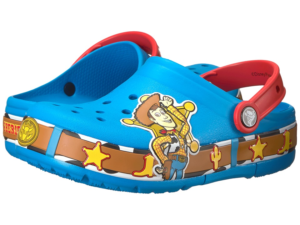 Crocs Kids - Crocband Fun Lab Woody Lights Clog (Toddler/Little Kid) (Ocean) Kids Shoes