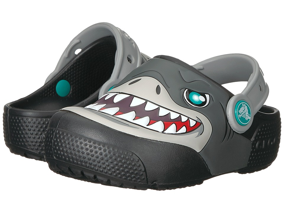 Crocs Kids - Fun Lab Lights Clog (Toddler/Little Kid) (Black) Kids Shoes