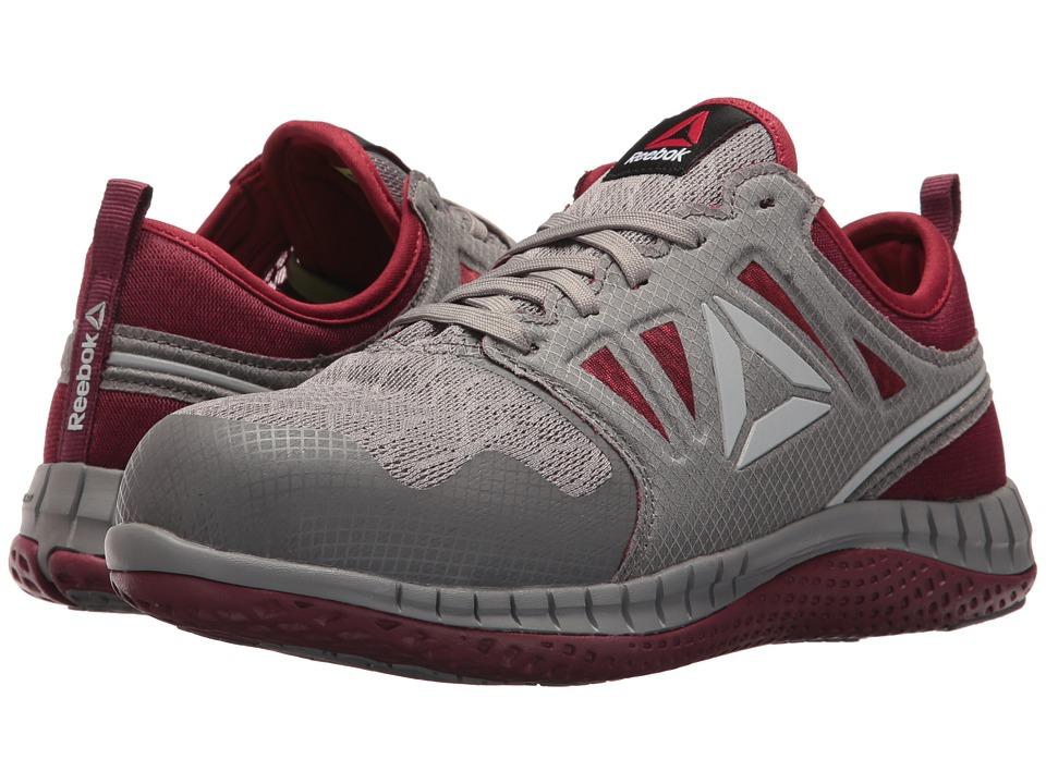 Reebok Work Zprint Work (Grey/Burgundy) Women's Shoes