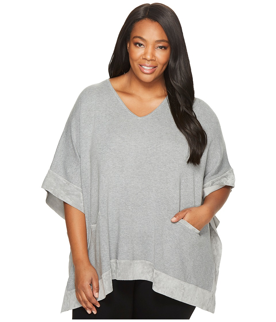 Calvin Klein Plus - Plus Size Cape with Suede Trim (Heath...