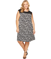 Calvin Klein Plus - Plus Size Sleeveless Print Dress with Zipper Yoke