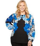 Calvin Klein Plus - Plus Size Printed Peasant Sleeve Blouse