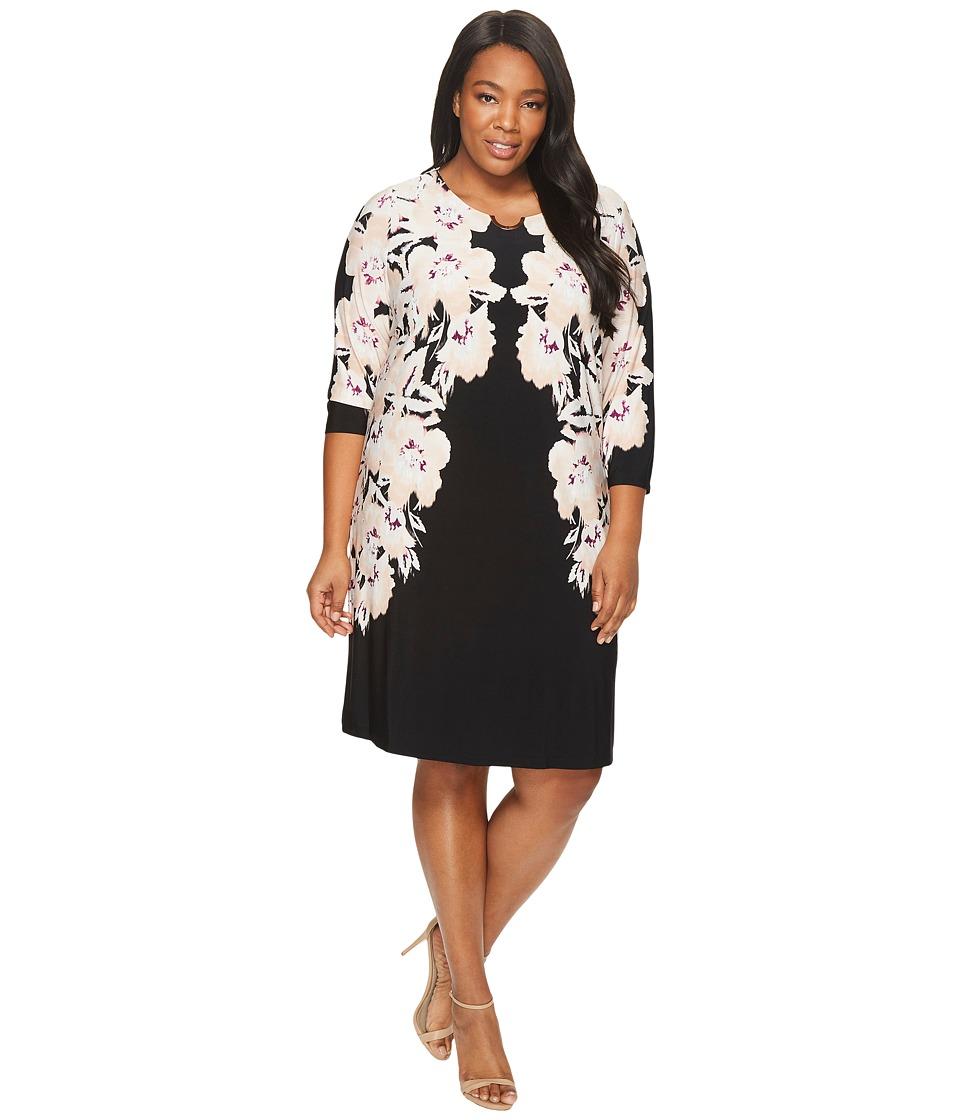 Calvin Klein Plus - Plus Size 3/4 Sleeve Dress w/ Arch Hardware
