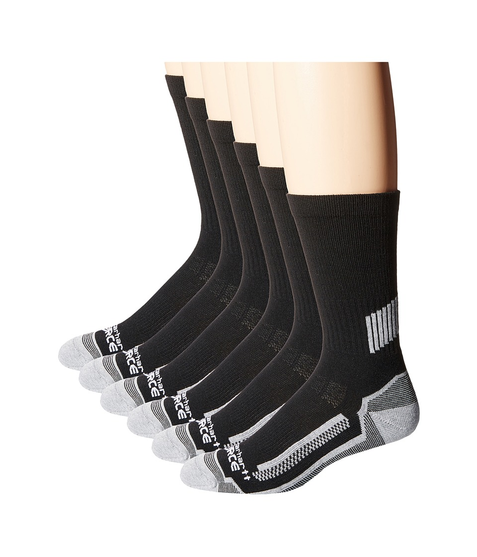 Carhartt - 6-Pack Force Performance Work Crew Socks