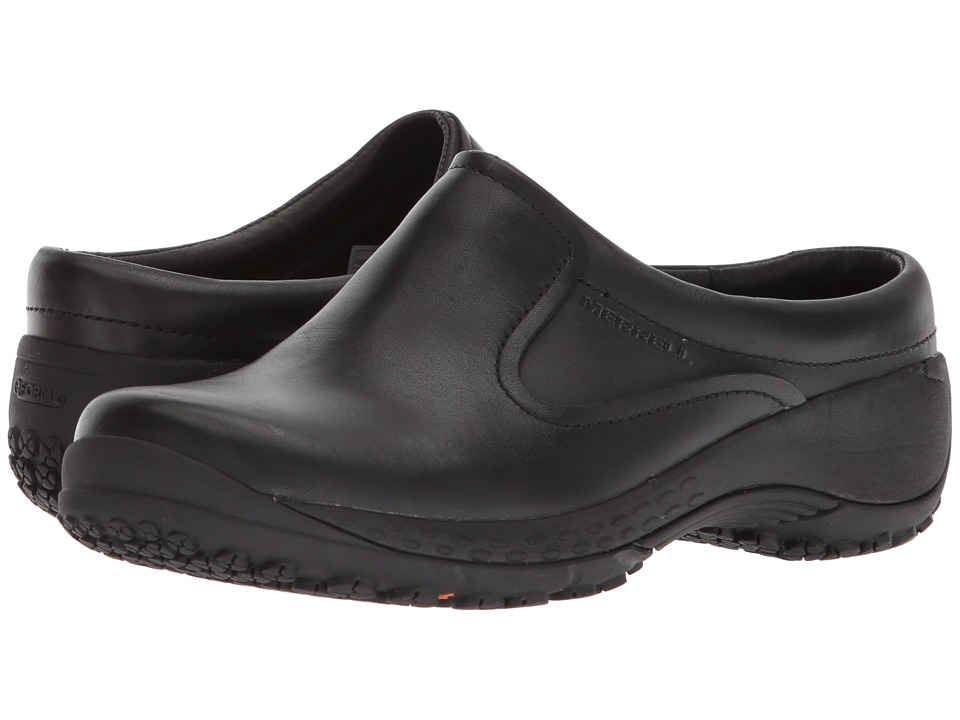 Merrell Work - Encore Slide Q2 Pro (Black) Womens Slip on  Shoes