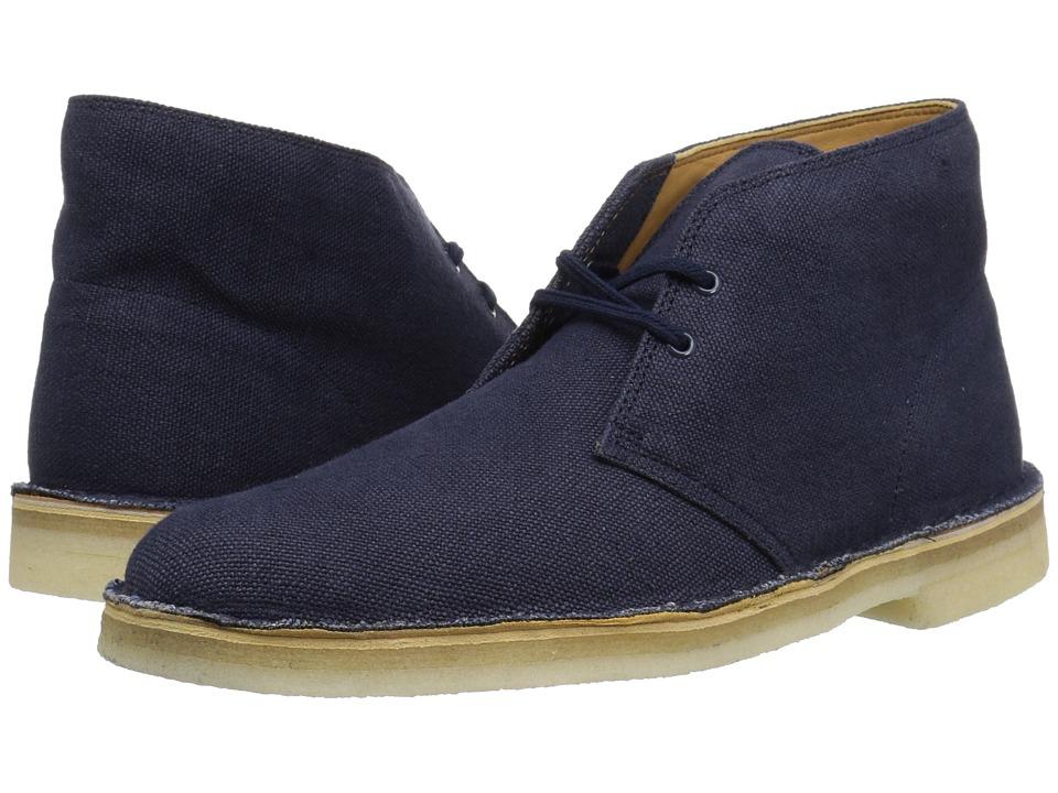 Clarks - Desert Boot (Navy Canvas) Mens Boots
