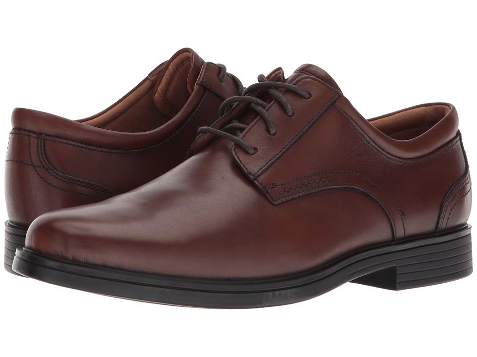 Clarks Un Aldric Lace (Dark Tan Leather) Men's Shoes