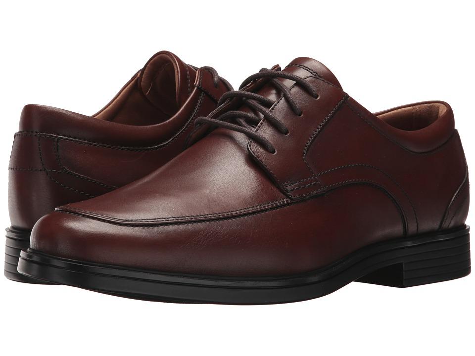 Clarks Un Aldric Park (Tan Leather) Men's Shoes