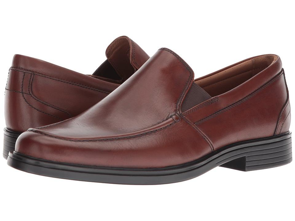 Clarks - UnAldric Slip (Dark Tan Leather) Mens Shoes
