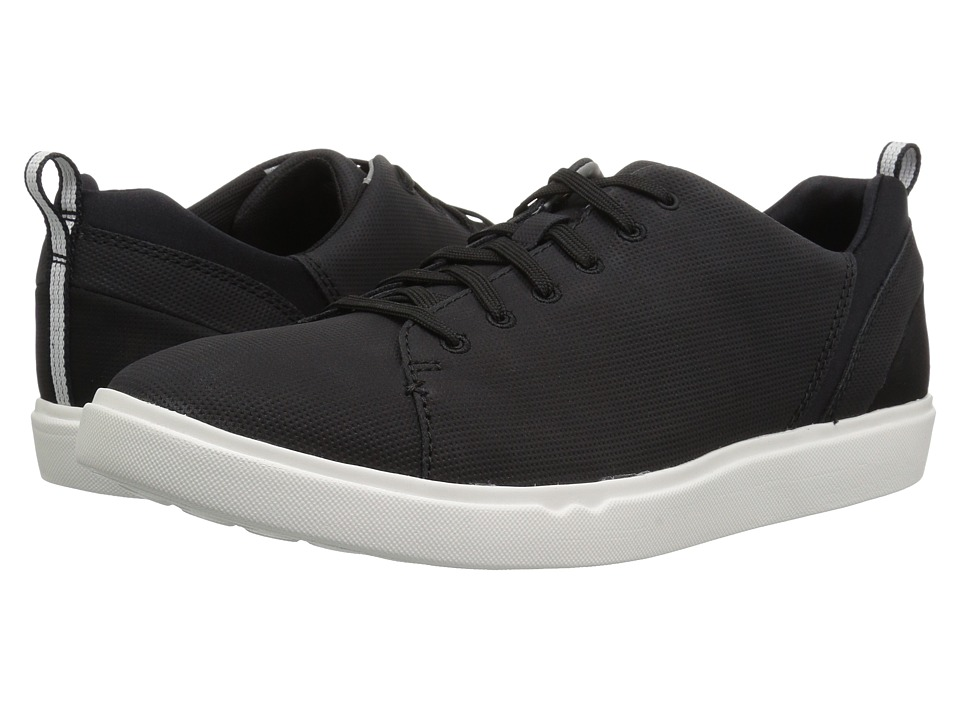 Clarks - Step Verve Lo (Black Perf Microfiber) Mens Shoes