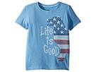 Life is Good Kids Life is Good Kids Crusher Big Flag Dog Tee (Toddler)