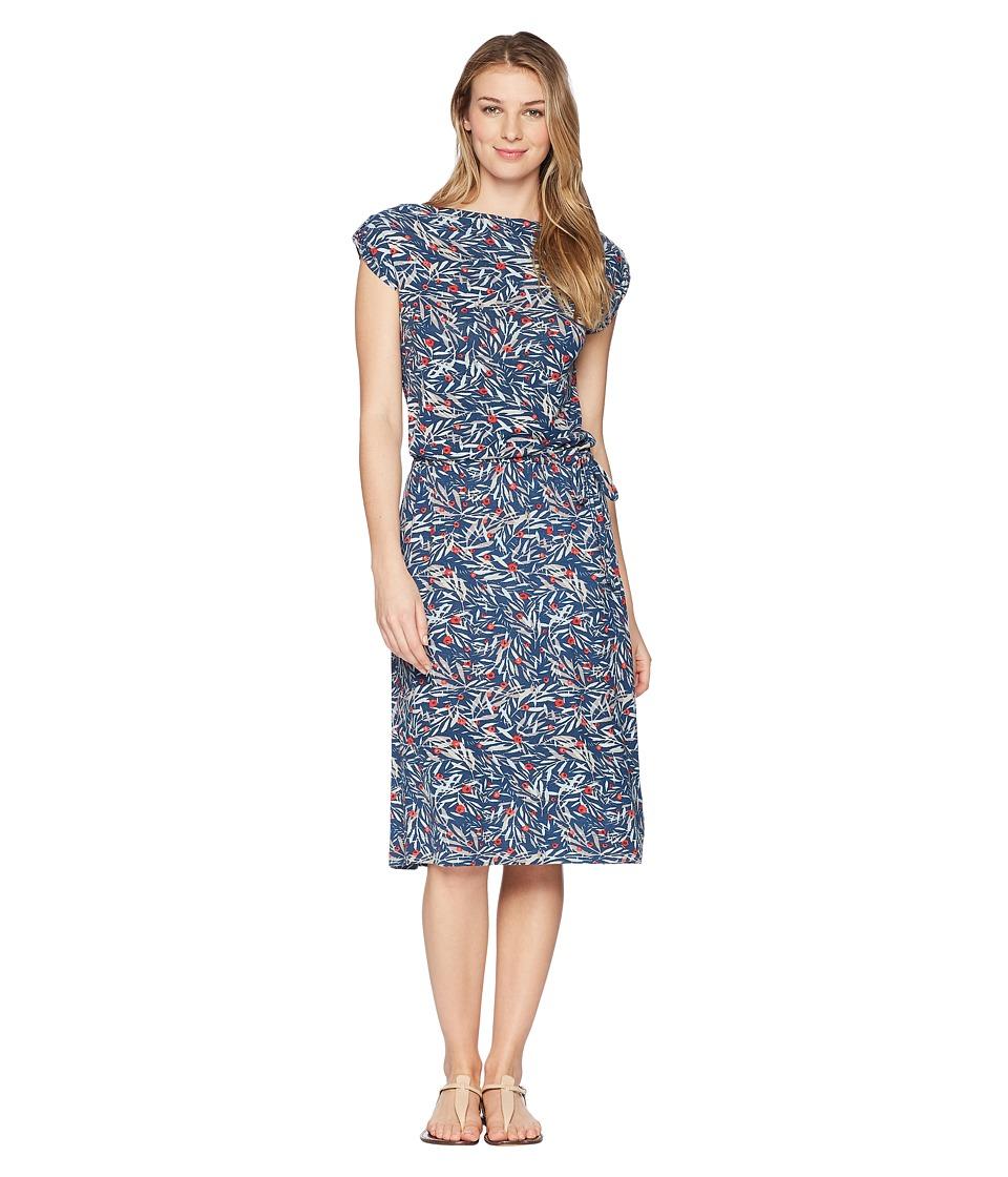Royal Robbins Noe Dress (Deep Blue Print) Women