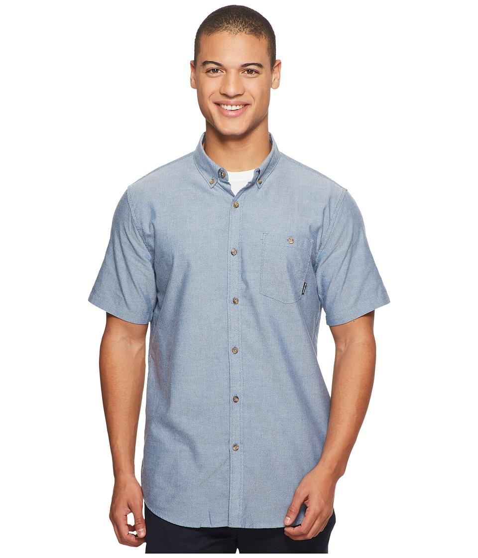Billabong All Day Oxford Short Sleeve Shirt (Blue) Men