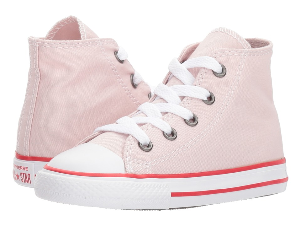 Converse Kids Chuck Taylor All Star Core Hi (Infant/Toddler) (Barely Rose/Enamel Red/White) Girls Shoes