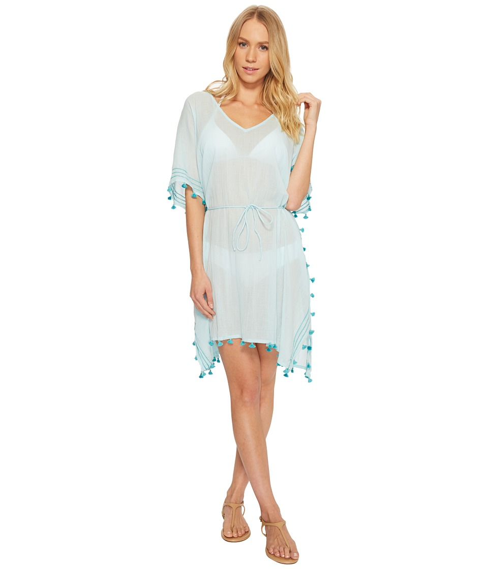 Seafolly Mini Tassel Kaftan Cover-Up (White)