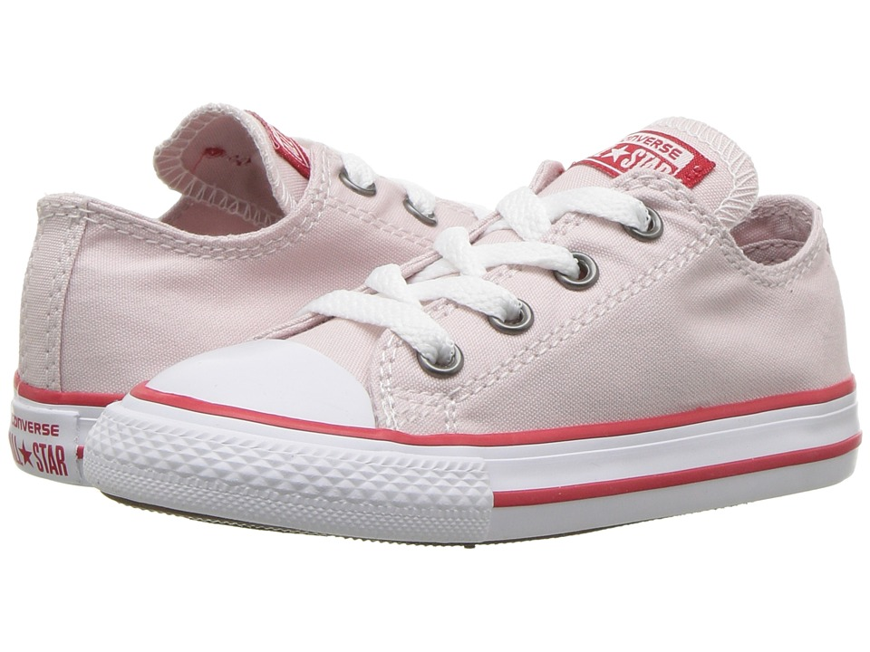 Converse Kids Chuck Taylor All Star Ox (Infant/Toddler) (Barely Rose/Enamel Red/White) Girl's Shoes