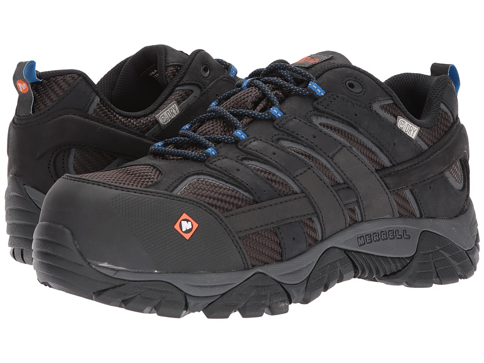 Merrell Work - Moab 2 Vent Waterproof CT (Black) Mens Industrial Shoes
