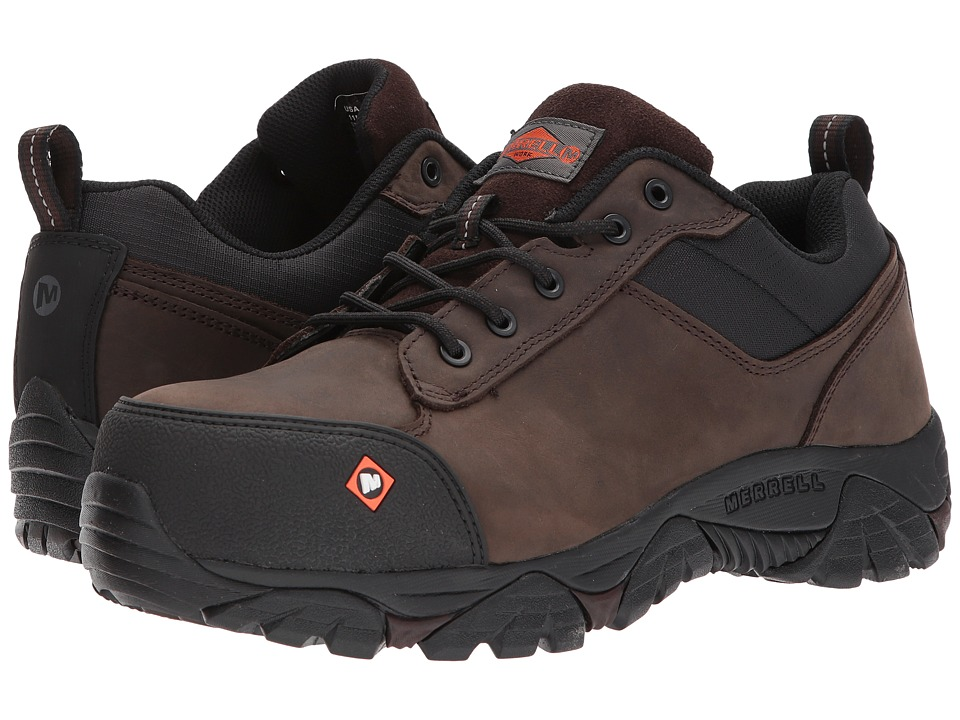 Merrell Work - Moab Rover Lace CT (Espresso) Mens Industrial Shoes