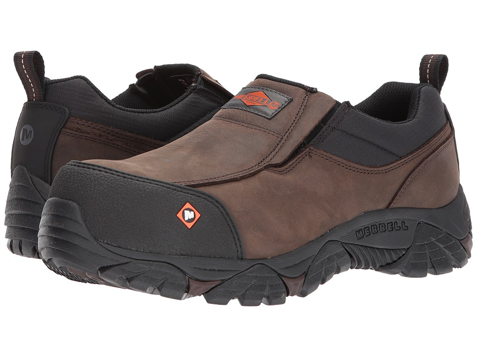 Merrell Work - Moab Rover Moc CT (Espresso 2) Mens Industrial Shoes