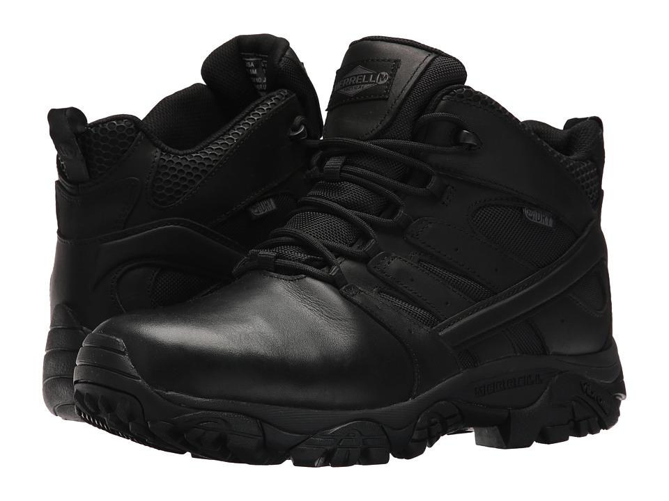 Merrell Work - Moab 2 Mid Tactical Response Waterproof (Black) Mens Industrial Shoes