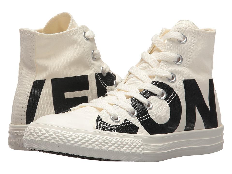 Converse Kids Chuck Taylor All Star Wordmark Hi (Little Kid) (Natural/Black/Egret) Kids Shoes
