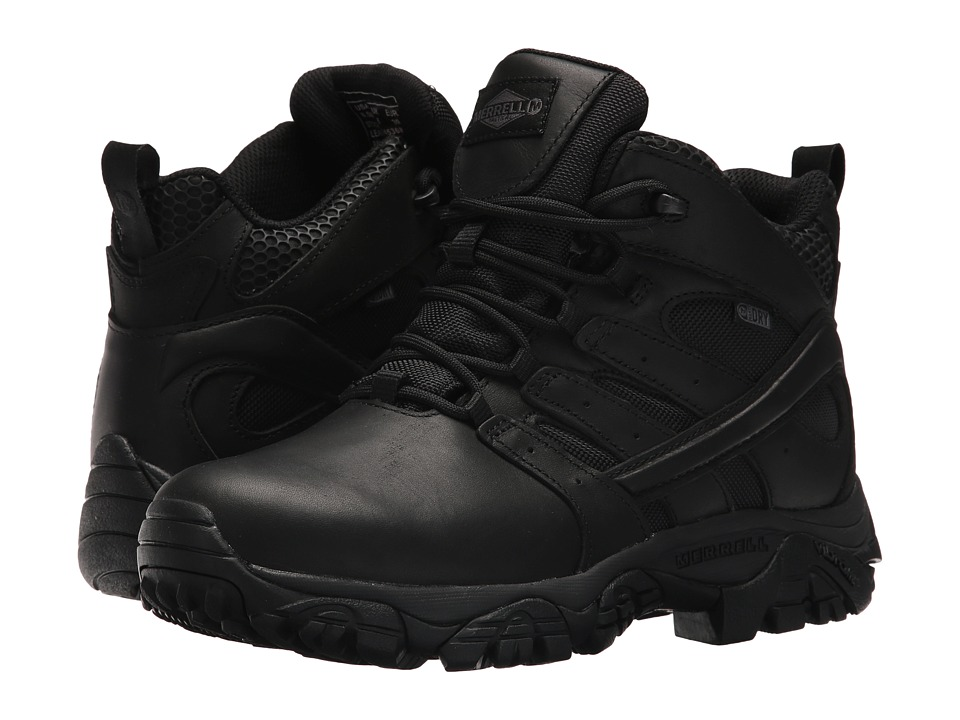 Merrell Work Moab 2 Mid Tactical Response Waterproof (Black) Women's Industrial Shoes