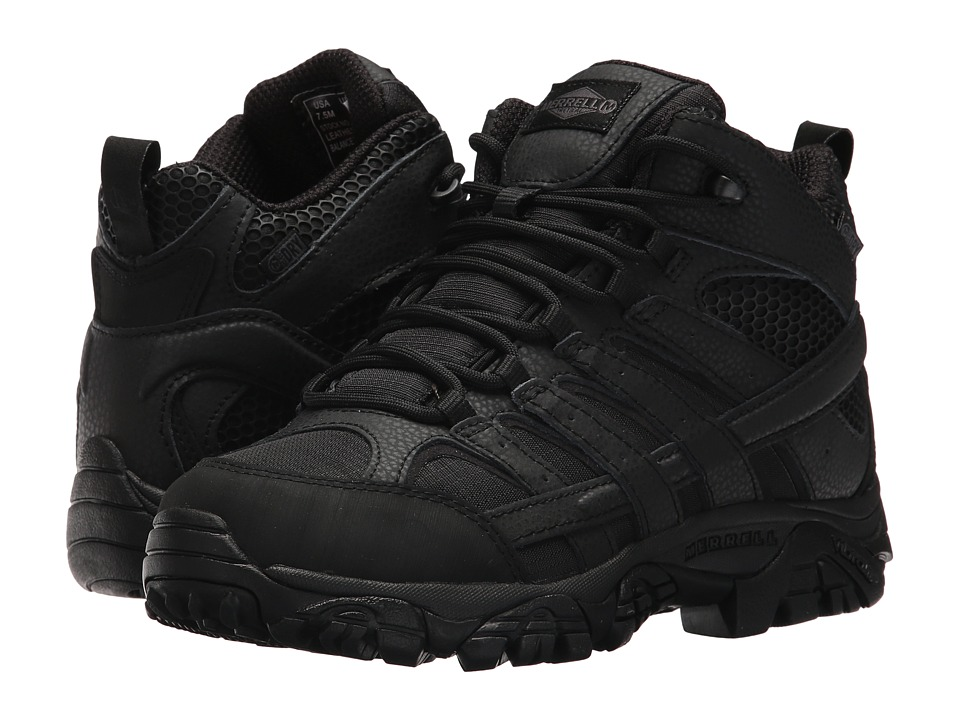Merrell Work Moab 2 Mid Tactical Waterproof (Black) Women's Industrial Shoes
