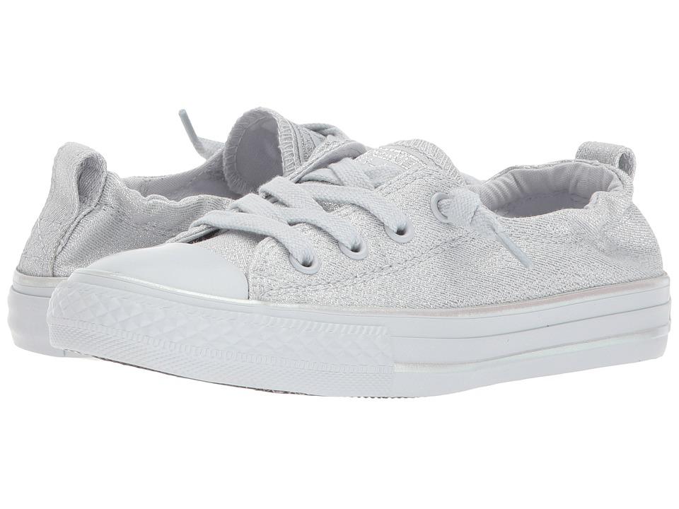 Converse Kids - Chuck Taylor All Star Shoreline Mono Shine Ox (Little Kid/Big Kid) (Pure Platinum/Pure Platinum) Girls Shoes