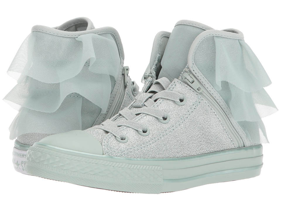 Converse Kids - Chuck Taylor All Star Block Party Hi (Little Kid/Big Kid) (Dried Bamboo/Dried Bamboo/Dried Bamboo) Girls Shoes