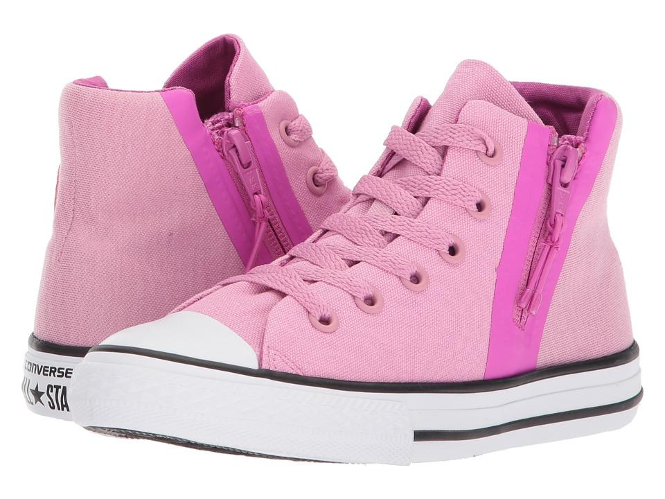 Converse Kids - Chuck Taylor All Star Sport Zip Hi (Little Kid/Big Kid) (Light Orchid/Hyper Magenta/White) Girls Shoes