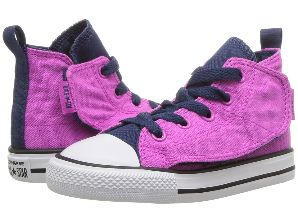 Converse Kids - Chuck Taylor All Star Simple Step Hi (Infant/Toddler) (Hyper Magenta/Navy/White) Girls Shoes