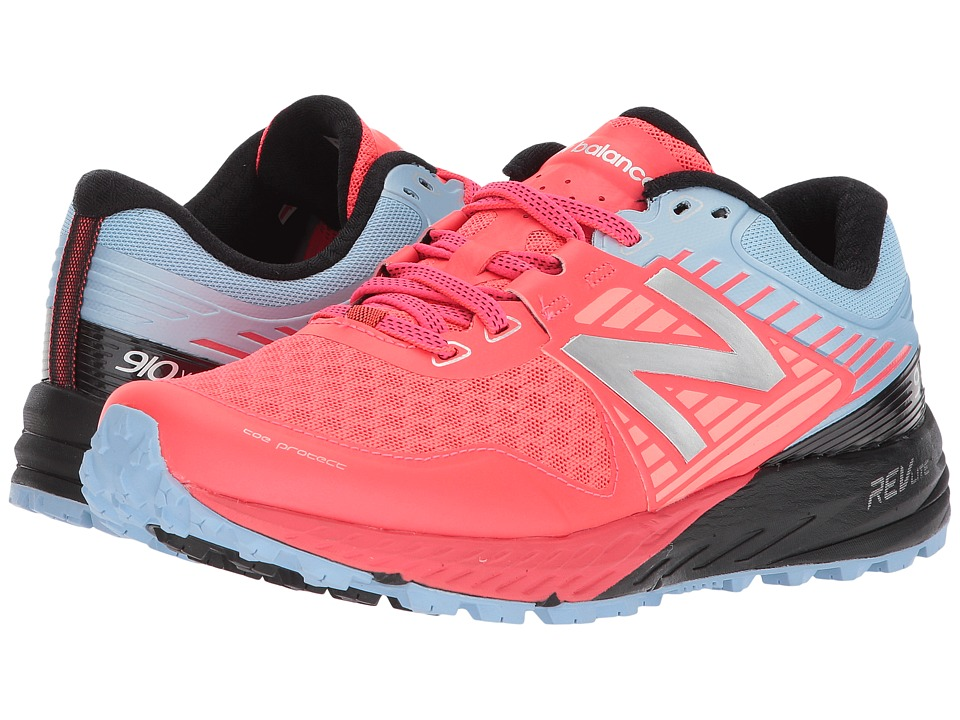 New Balance 910v4 (Vivid Coral/Clear Sky/Black) Women's Running Shoes