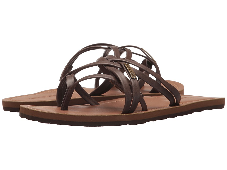 Volcom Strap Happy Sandals (Brown) Sandals